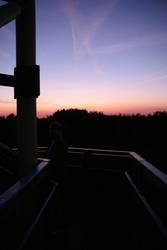 Sonnenuntergang in Hüls