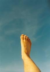 Fuß im Himmel