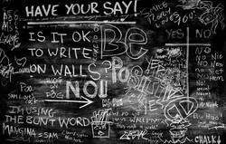 Is it ok to write on walls?