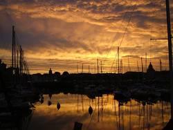 Sonnenuntergang in La Rochelle, Frankreich