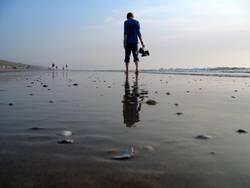 Walkin' down the beach