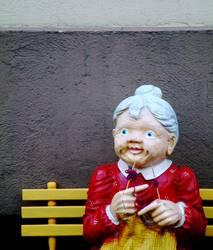 Strick, Großmütterchen!