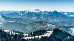 Blick vom Unterberg auf den Ötscher