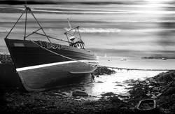 Schiff auf Kiel liegend