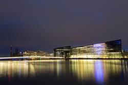 Havneholmen Bezirk in Kopenhagen bei Nacht