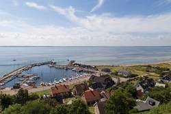 Kyrkbacken Hafen auf der Insel Ven