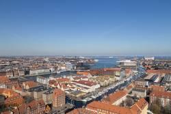 Kopenhagen Skyline Blick von Vor Frelsers Kirche