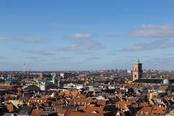 Kopenhagen Skyline Blick vom Christiansborg Turm