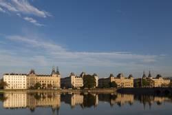 Blick über den Sortedams See in Kopenhagen
