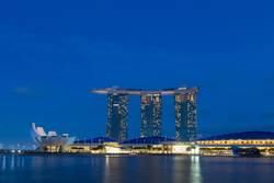 Marina Bay Sands in Singapur bei Nacht