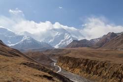Pamir-Gebirgszug und Pik Lenin, Kirgisistan