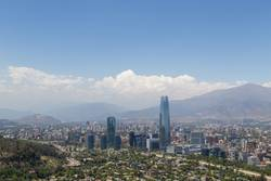 Panoramablick von Santiago de Chile