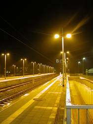 Warm-Kalter Bahnsteig