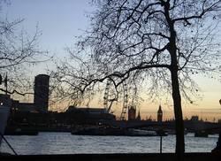 Abenddämmerung in London