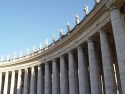 Säulen am Petersplatz/Rom