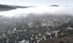 Freiburg vom Nebel verschlungen