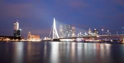 Erasmus Bridge Rotterdam bei Nacht