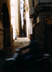 Neapel, dunkle Gassen