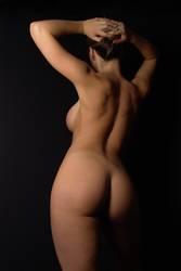 weiblicher Akt von hinten