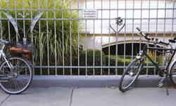 Das Abstellen von Fahrrädern ist verboten!