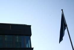 Hängende Flagge