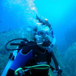 Diver with Bubbles III