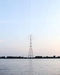 Strommast über die Elbe