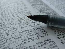 Stift im Buch