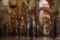 Columns in the World Heritage Mezquita in Cordoba