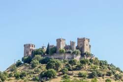 View of the medieval castle Almodovar del Rio