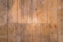 Old wooden floor with vertical boards