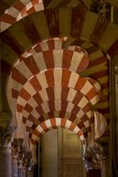 Columns in the World Heritage Mezquita in Cordoba