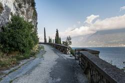 old road on the shores of Lake Garda