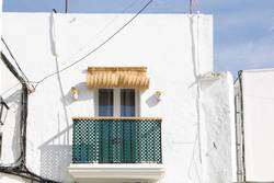Facades of spanish houses