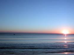Meer-Sonnenaufgang