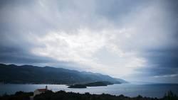 Regenfront über der Adria