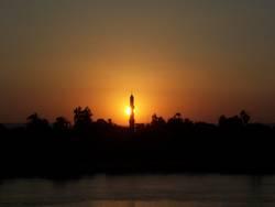 Sonnenuntergang in Ägypten