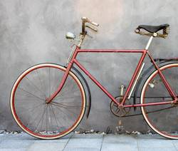 Mein geliebtes rotes Fahrrad
