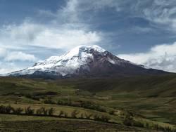 Gemalter Vulkan