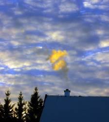 Wolken vs. Rauch