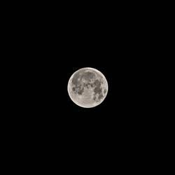 Vollmond, kurz nach der Mondfinsternis