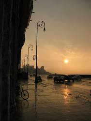 Sunset am Malecón in Havanna