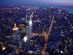 Downtown Manhattan from Empire State Building at night II