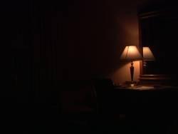 einsame Lampe