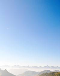 über den Bergen, kann die Freiheit so grenzenlos sein....
