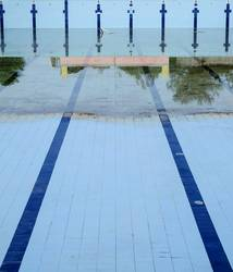Leerer Pool