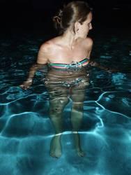 Nachts im Pool