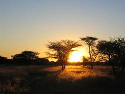 Sonnenuntergang in Namibia