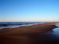 Brauner Strand