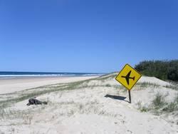 Landebahn Fraser Island